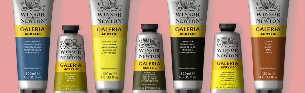 Pinturas acrilicas Winsor & Newton Galeria