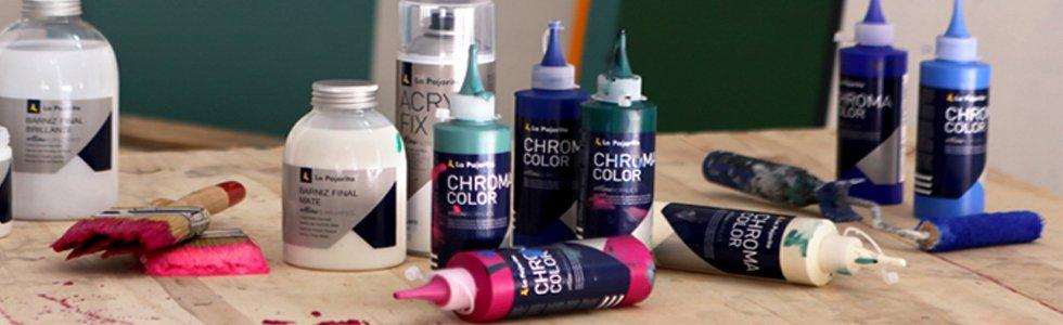 Pinturas acrílicas La Pajarita Chroma Color