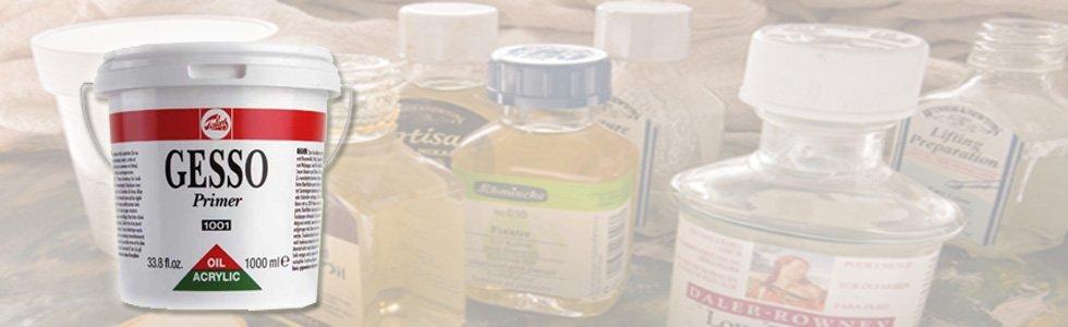 Gesso e imprimaciones para óleo