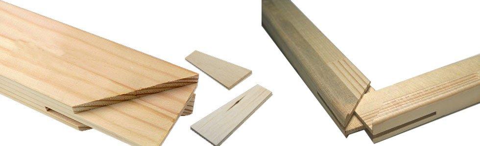 Listones de madera para bastidores especiales