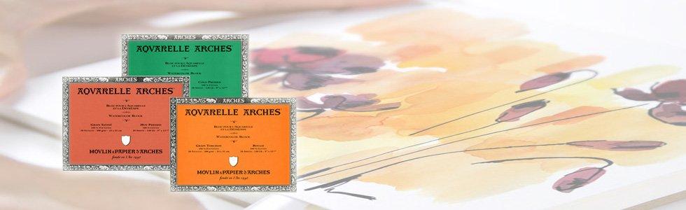 Blocs de papel para pintar con acuarela