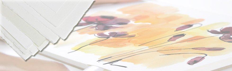 Hojas de papel para pintar con acuarela