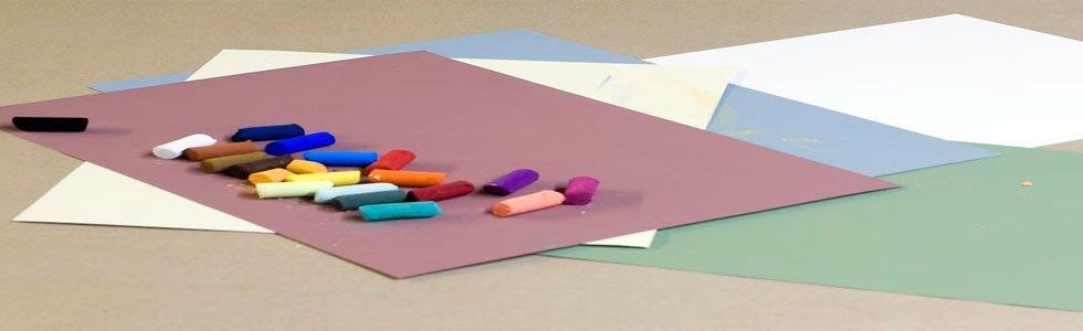 Hojas de papel para pintar con pastel
