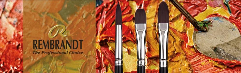 Pinceles sintéticos Rembrandt mango largo