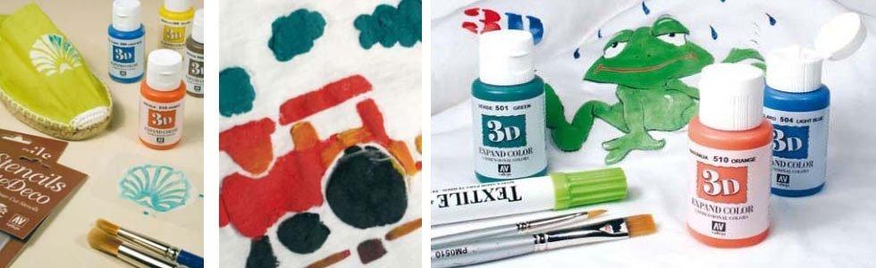 Pintura textil 3D Vallejo
