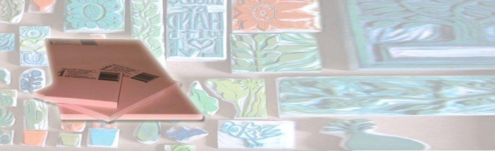 Planchas de goma para carvar sellos