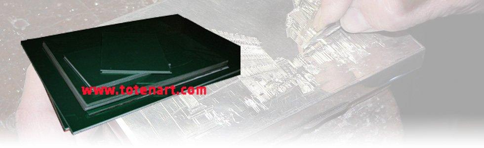 Planchas para grabado de zinc pulido