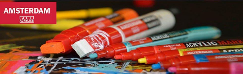 Rotuladores de pintura acrílica Amsterdam