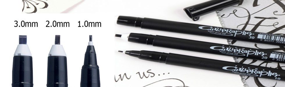 Rotuladores de escritura Sakura Pigma Graphic y Calligraphy Pen