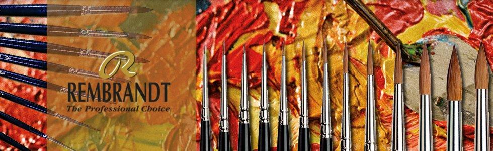Pinceles Marta Roja Rembrandt mango largo