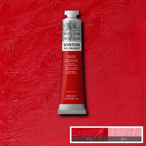 Óleo Winsor & Newton Winton color Tono Rojo de Cadmio Oscuro (200 ml)