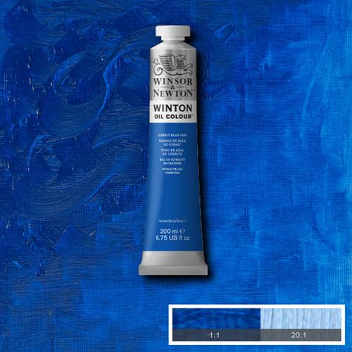 Óleo Winsor & Newton Winton color tono azul cobalto (200 ml)