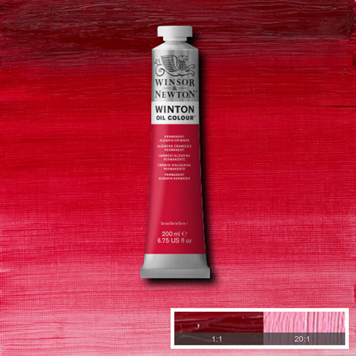 Óleo Winsor & Newton Winton color carmesí alizarina permanente (200 ml)