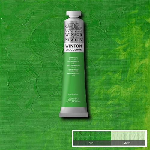 Óleo Winsor & Newton Winton color Verde Claro Permanente (200 ml)