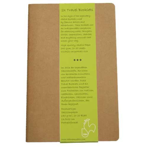 Block Travel Booklet Hahnemühle R, 140 gr, 2x20 h, 9x14 cm.