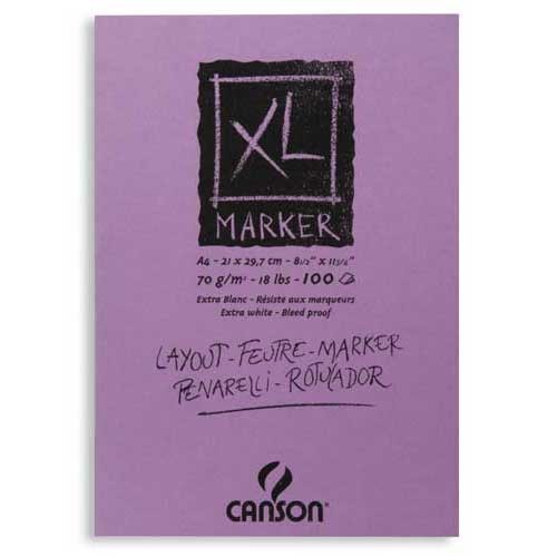 Block Xl Marker Canson, 21x29.7 cm, 70 gr, 100 h.