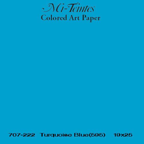 Mi-teintes Canson Azul Turquesa, 160 gr., 21x30 cm. (A4) (595)