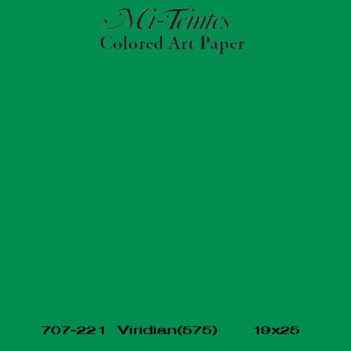 Mi-teintes Canson Verde Billar, 160 gr., 21x30 cm. (A4) (575)
