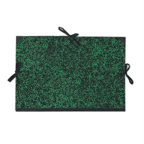 Carpeta dibujo 52x72 cm., Verde con cintas