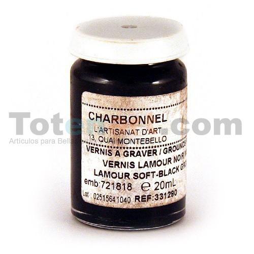 Barniz Grabado negro tierno Charbonnel, LAMOUR, 20 ml
