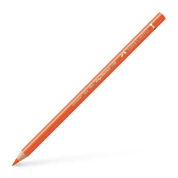 Lápiz polychromo Faber Castell naranja transparente 113