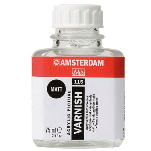Barniz acrilico mate Amsterdam Talens, 75 ml.