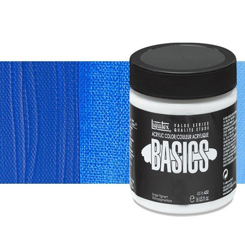 Acrílico Liquitex Basics color tono azul cobalto (946 ml)