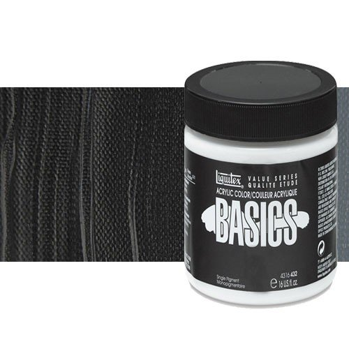 Acrílico Liquitex Basics color negro Marte (946 ml)