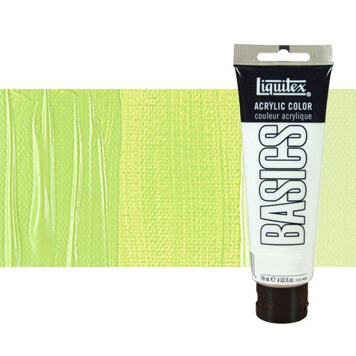 Acrílico Liquitex Basics color verde amarillo brillante (118 ml)