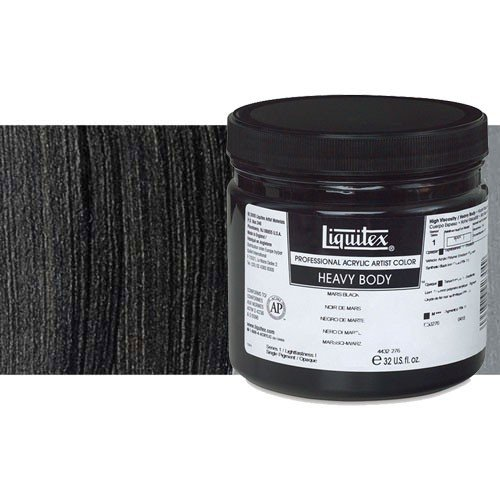 Acrílico Liquitex Heavy Body color negro marfil (473 ml)
