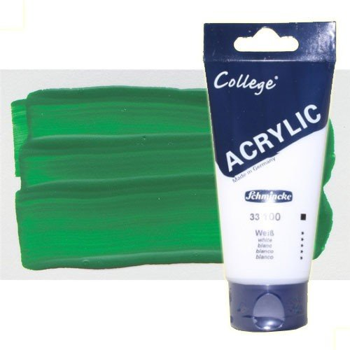 Acrílico Schmincke color verde hoja (200 ml)