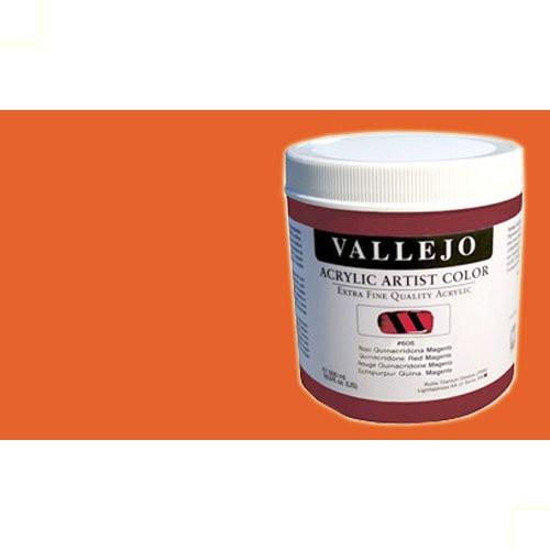 Acrílico Vallejo Artist n. 803 color cadmio naranja (500 ml)