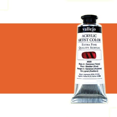 Acrílico Vallejo Artist n. 803 color cadmio naranja (60 ml)