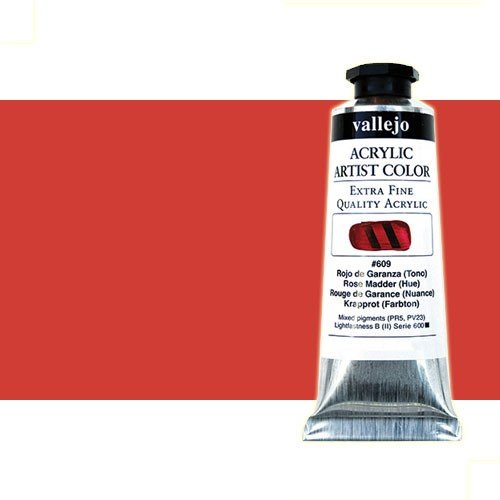 Acrílico Vallejo Artist n. 805 color cadmio rojo medio (60 ml)