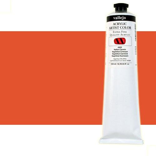 Acrílico Vallejo Artist n. 821 color naranja pirrol (200 ml)