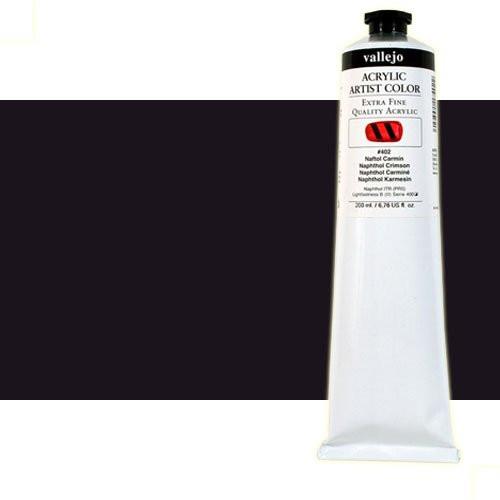 Acrílico Vallejo Artist n. 301 color negro carbón (200 ml)
