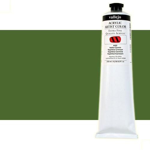 Acrílico Vallejo Artist n. 411 color verde de Hooker (200 ml)