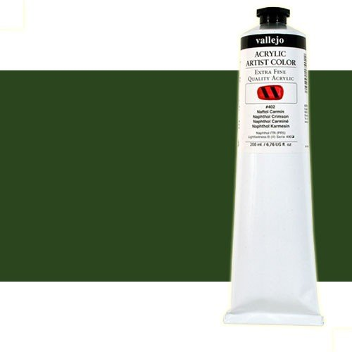 Acrílico Vallejo Artist n. 408 color verde vejiga (200 ml)