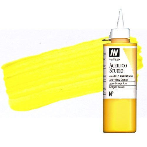 Acrílico Vallejo Studio n. 1 color cadmio amarillo limón (200 ml)