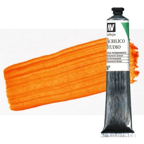 Acrílico Vallejo Studio n. 15 color naranja de cadmio (58 ml)