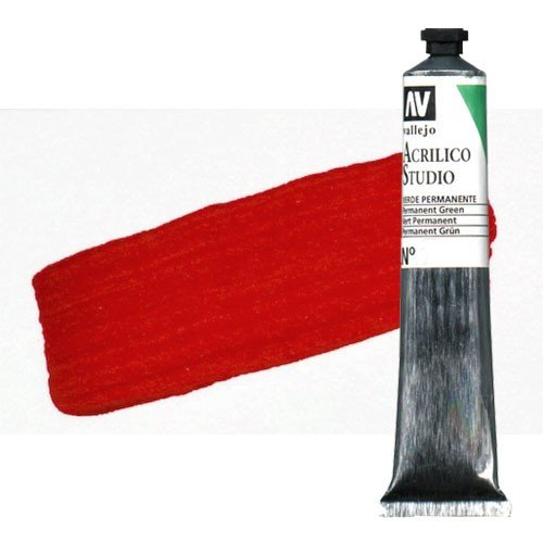 Acrílico Vallejo Studio n. 2 color rojo de cadmio (58 ml)