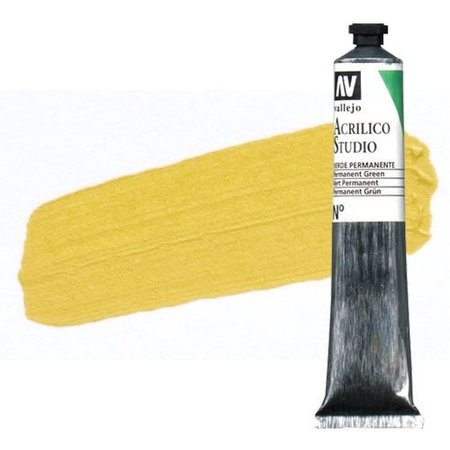 Acrílico Vallejo Studio n. 21 color amarillo Nápoles (58 ml)
