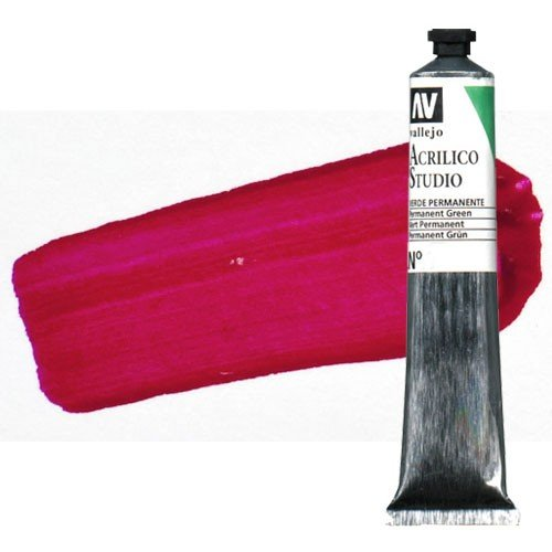Acrílico Vallejo Studio n. 3 color rojo carmín (58 ml)