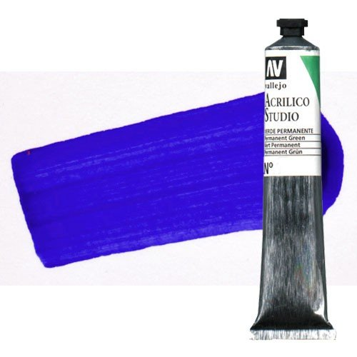 Acrílico Vallejo Studio n. 4 color azul ultramar (58 ml)
