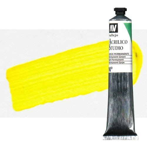 Acrílico Vallejo Studio n. 43 color amarillo cadmio claro (58 ml)