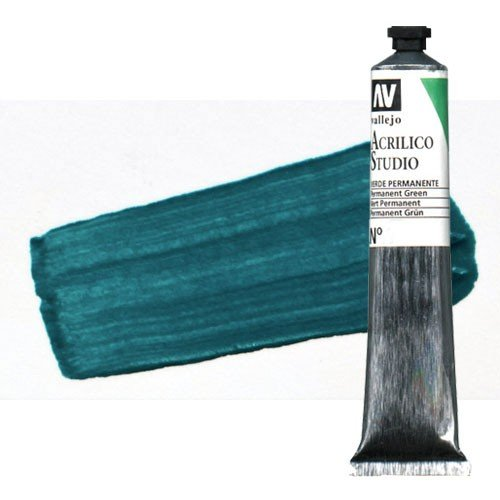 Acrílico Vallejo Studio n. 47 color turquesa ftalocianina (58 ml)