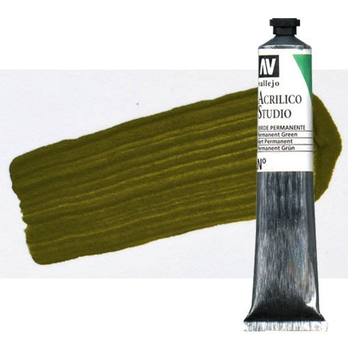 Acrílico Vallejo Studio n. 48 color verde oliva (58 ml)
