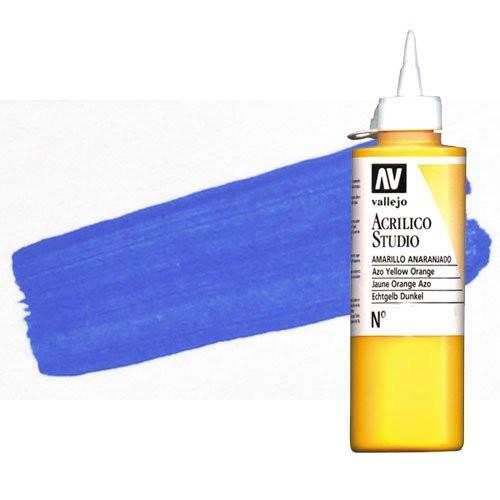 Acrílico Vallejo Studio n. 58 color azul lapislázuli (200 ml)