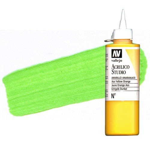 Acrílico Vallejo Studio n. 59 color verde claro (200 ml)
