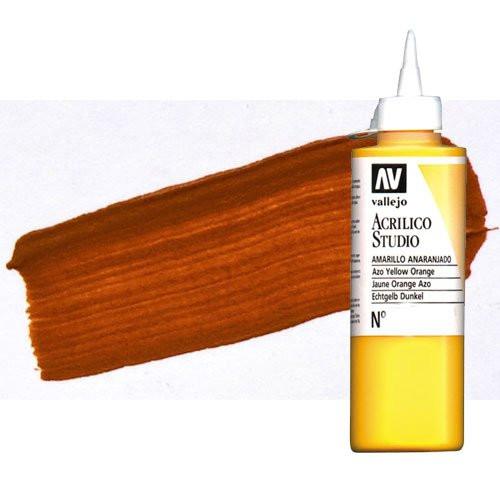 Acrílico Vallejo Studio n. 9 color naranja óxido de hierro (200 ml)